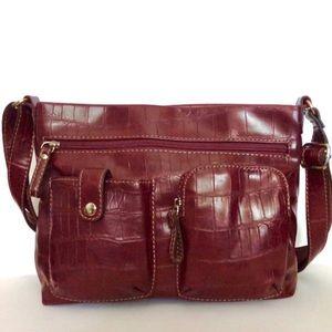 Relic purse crossbody satchel burgundy maroon